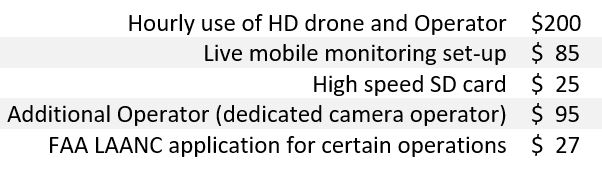 Drone Services Pricing
